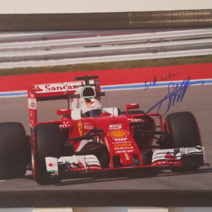 Sebastian Vettel Autographed Formula 1 Photo