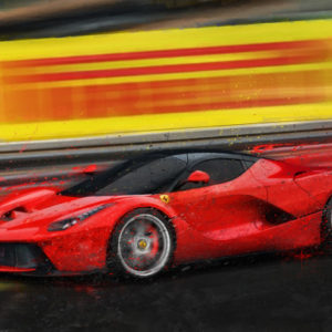 Bad Attitude Ferrari Print by Alan Greene