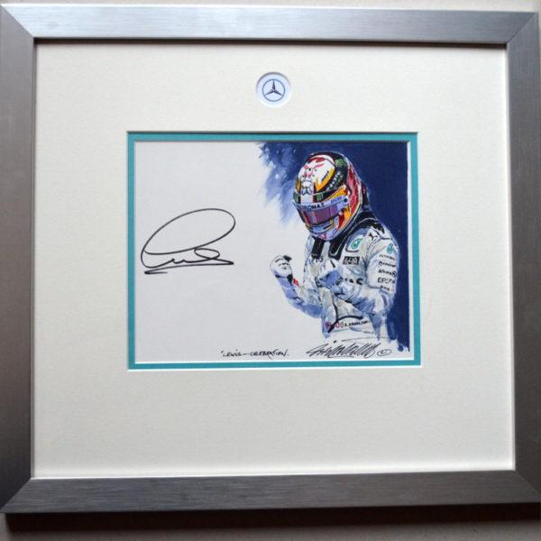 Lewis Hamilton Celebration Painting