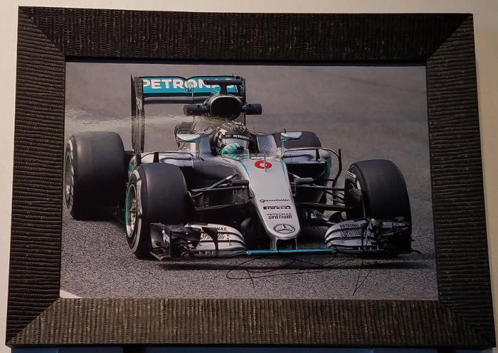 Nico Rosberg Autographed Framed Photo