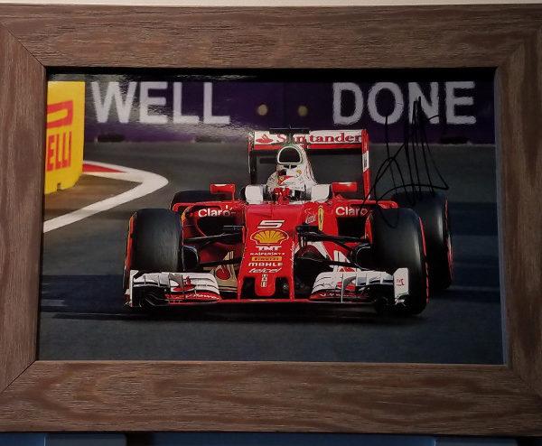 Sebastian Vettel Autographed Photo