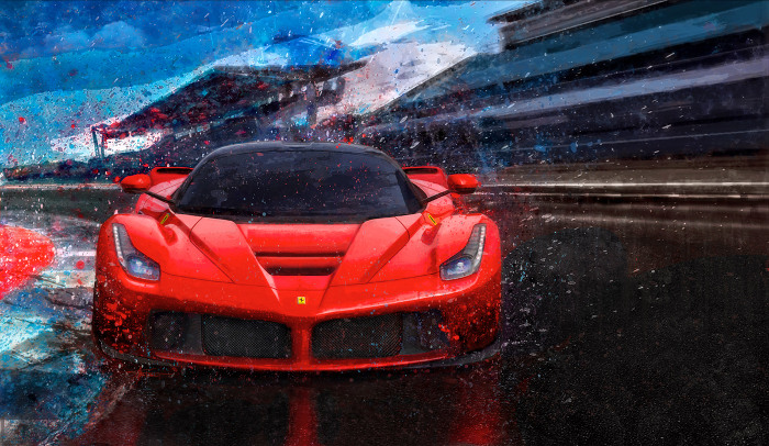 Splash-Dance-Ferrari-Print-by-Alan-Greene