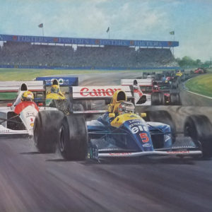 Mansell British Victory by Alan Fearnley