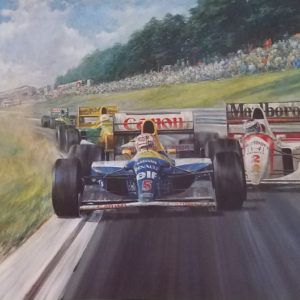 Nigel Mansell OBE World Champion by Alan Fearnley