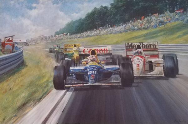 Nigel Mansell OBE World Champion by Alan Fearnley