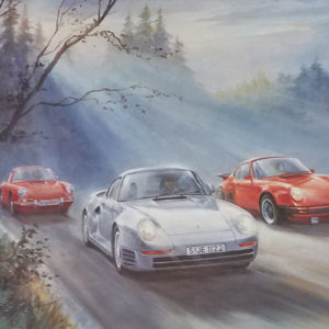 Porsche Pedigree Alan Fearnley Print