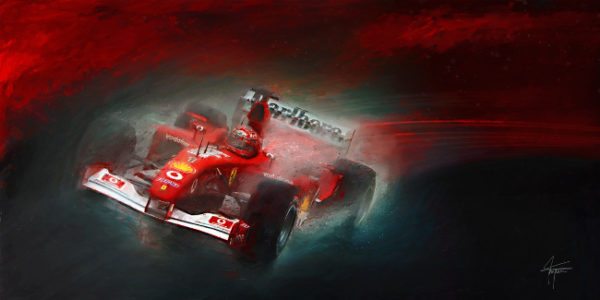 Fire and Ice - Michael Schumacher Print by Alan Greene