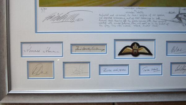 Squadron Scramble Description and bottom left signatures