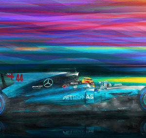 Break in the Weather - Lewis Hamilton by Alan Greene