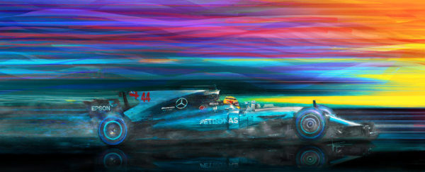 Break in the Weather - Lewis Hamilton by Alan Greene