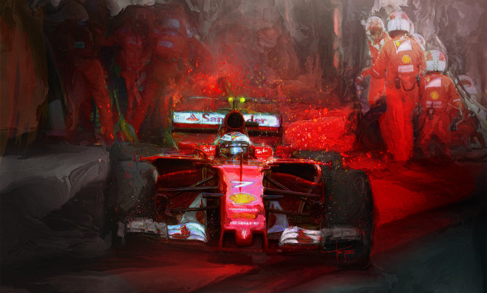 I Know What I'm Doing - Kimi Raikkonen Print by Alan Greene
