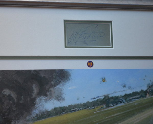 Lightning Strike Print with General Doolittle Signature