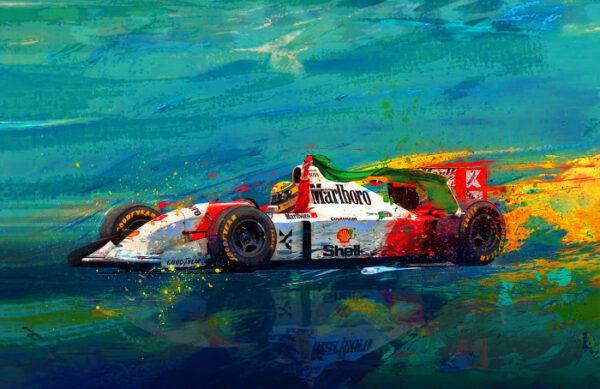 Simply the Best Ayrton Senna print by Alan Greene