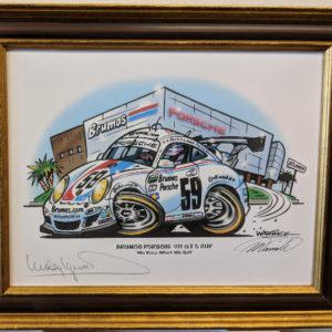Brumos Porsche 911 GT3 Cup Brown Gold Frame