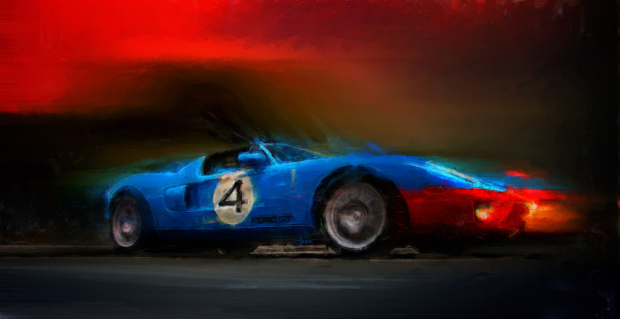 Blue Thunder Print - Alan Greene