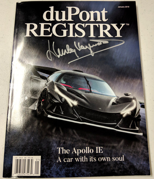 Dupont Registry Jan 2018 Signed by Haywood