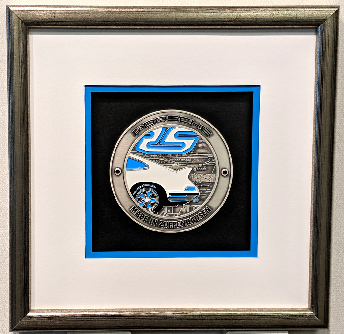 Framed Authentic 911 Porsche Grill Badge