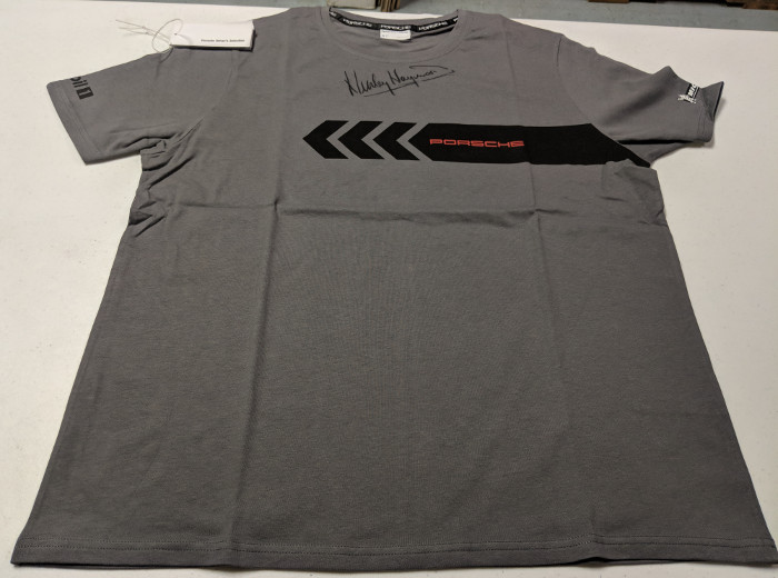 porsche driver 39 s selection t shirt signed by haywood. Black Bedroom Furniture Sets. Home Design Ideas