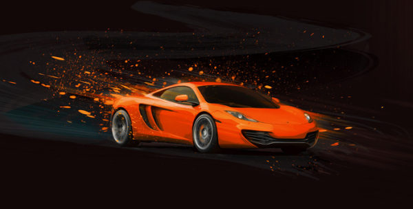 Mac Attack Orange McLaren Print by Alan Greene