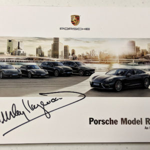 Porsche Model Range Signed by Haywood