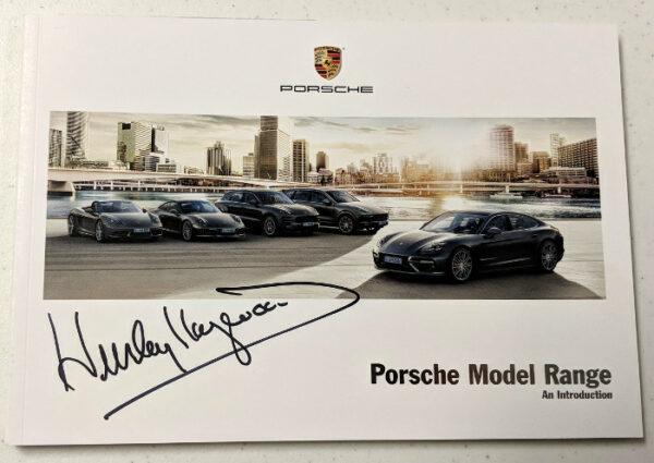Porsche Model Range Signed by Haywood