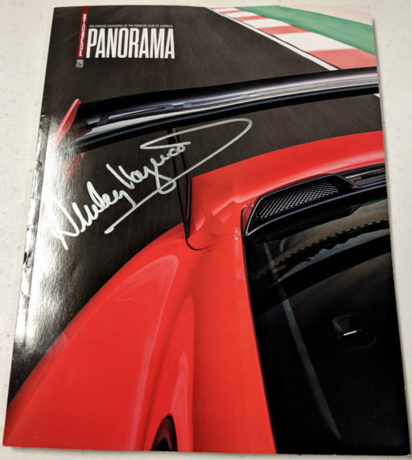 Porsche Panorama Dec 2017 Signed by Haywood