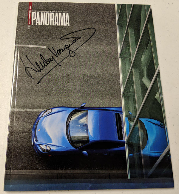 Porsche Panorama Oct 2017 Signed by Haywood