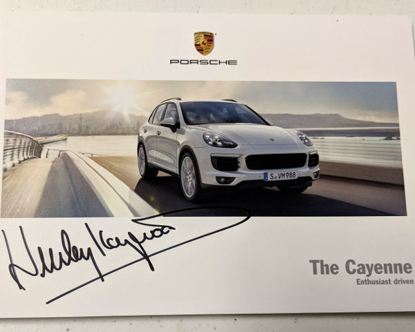 Porsche The Cayenne Signed by Haywood