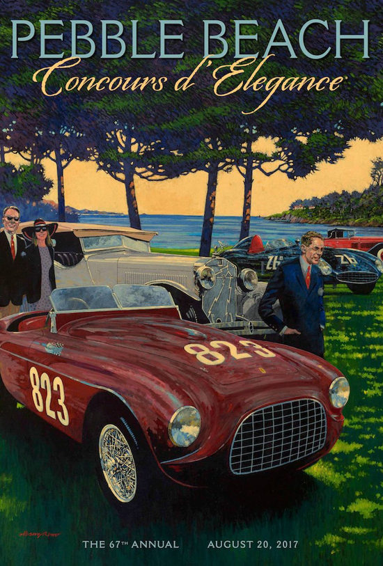 2017 Pebble Beach Concours Poster by Barry Rowe