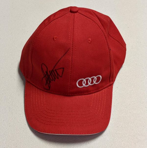 Acura Red Cap Autographed by Stefan Johansson