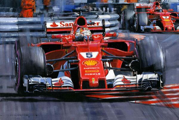 Ferrari Domination Monaco 2017 Vettel Raikkonen