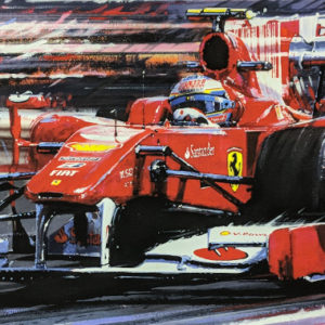 Alonso's Ferrari Close Up - Nicholas Watts