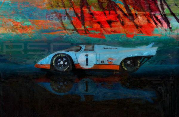 Porsche 917 - We're Number 1 Print by Alan Greene