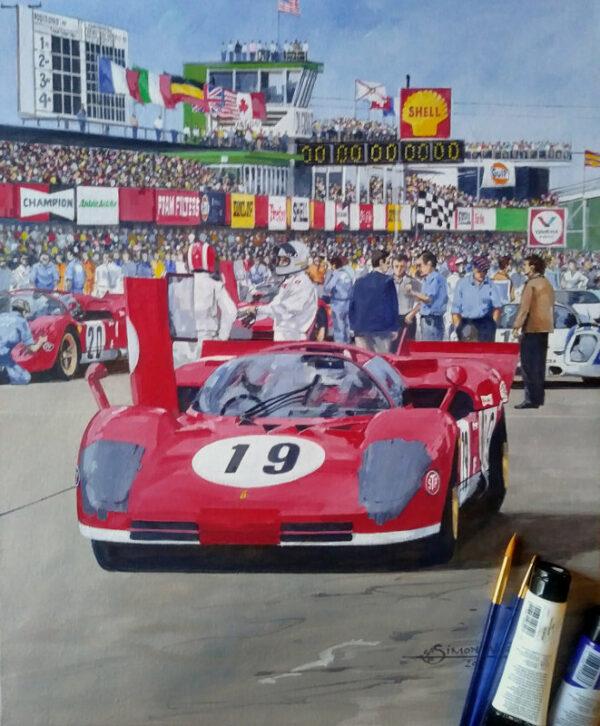 Andretti Siffert - Sebring 1970 Original Painting