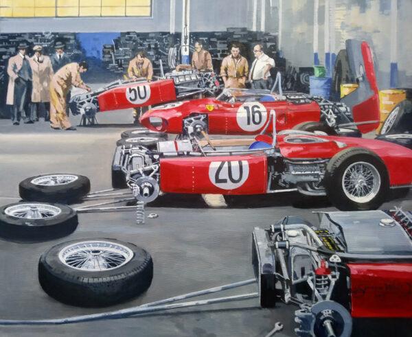 Ferrari 156 Sharknose French GP 1961 - Simon Ward