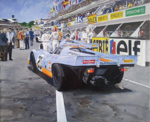 Gulf Porsche 917 Painting - Simon Ward