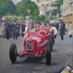 Tazio Nuvolari Painting - Simon Ward