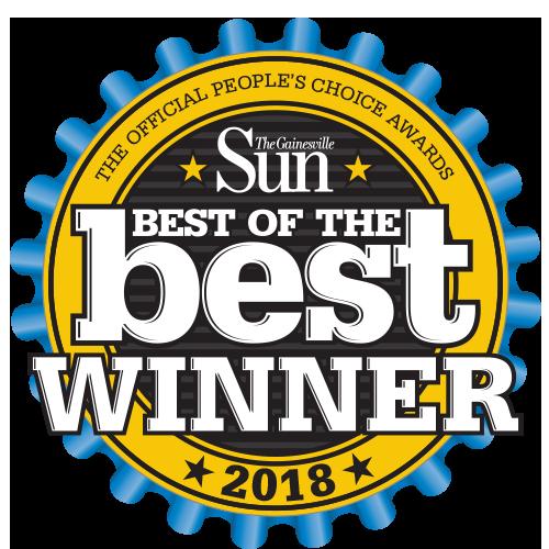 Gainesville Florida Best of the best winner