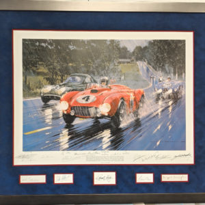 Le Mans 1954 with 14 Autographs