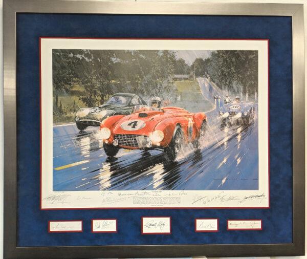 Le Mans 1954 with 14 Autographs