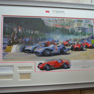 Monaco 1955 Framed Multi Signatures - Watts