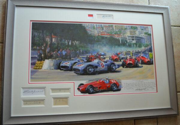 Monaco 1955 Framed Multi Signatures - Watts