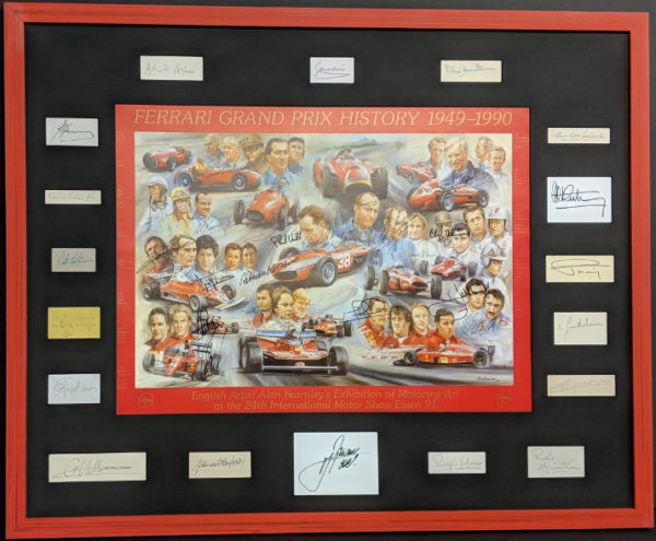 Ferrari History with 38 Signatures