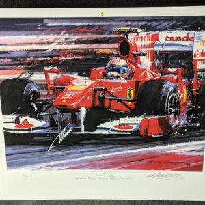 Alonso's Ferrari 2010 F10 Autographed
