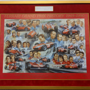 Ferrari GP History with Enzo Ferrari Signature