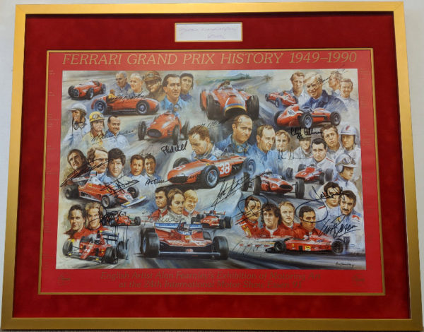 Ferrari GP History with Enzo Ferrari Signature